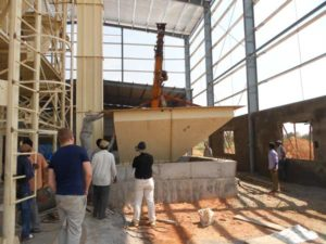dry mortar production line in Russia