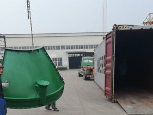 bolted cement silo loaded
