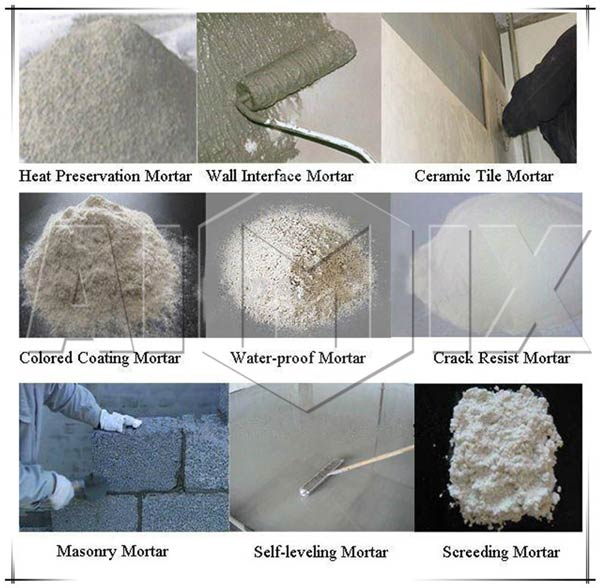 kinds of mortar