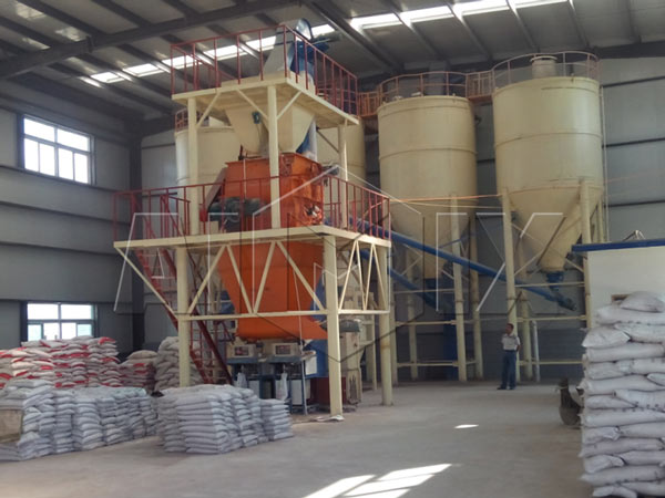 10-20t/h medium scale full -automatic dry mix mortar plant