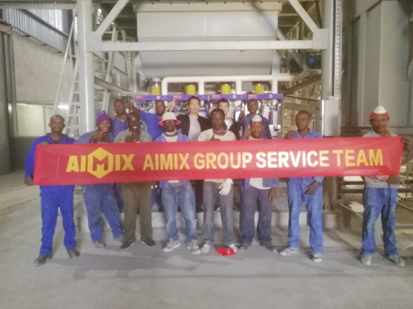 Aimix tile adhesive plant set up in Zambia 5