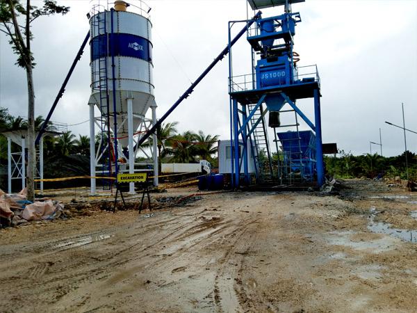 Aimix AJ50 concrete plant in Philippines 1