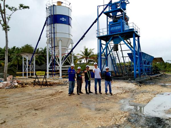 Aimix AJ50 concrete plant in Philippines 2