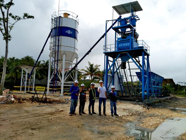 Aimix AJ50 concrete plant in Philippines 3