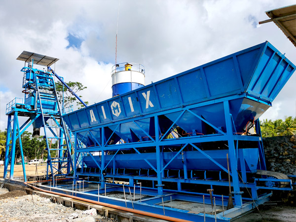 Aimix AJ50 concrete plant in Philippines 4
