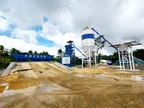 Aimix AJ50 concrete plant in Philippines 5