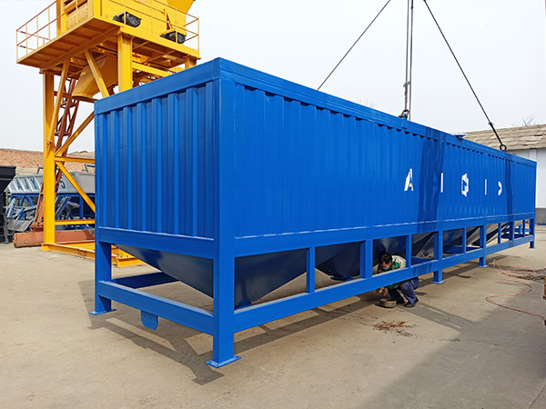 AIMIX horizontal cement silo