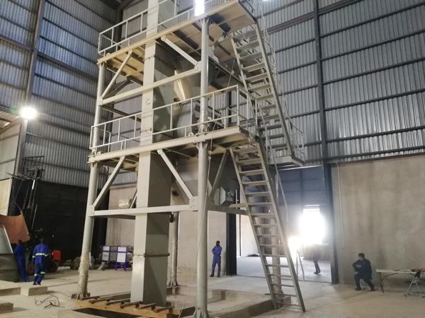 AIMIX 20t tile adhesive plant in Zamibia